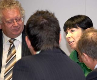 Carolyn Burgess with Stephen Parnaby (leader of East Riding of Yorkshire Council)