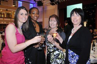 From left - Hannah Brigham, Stephanie Duodu, Carol Curtis & Carolyn Burgess